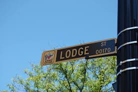 Old 17th Lodge Street Sign - Albany, NY