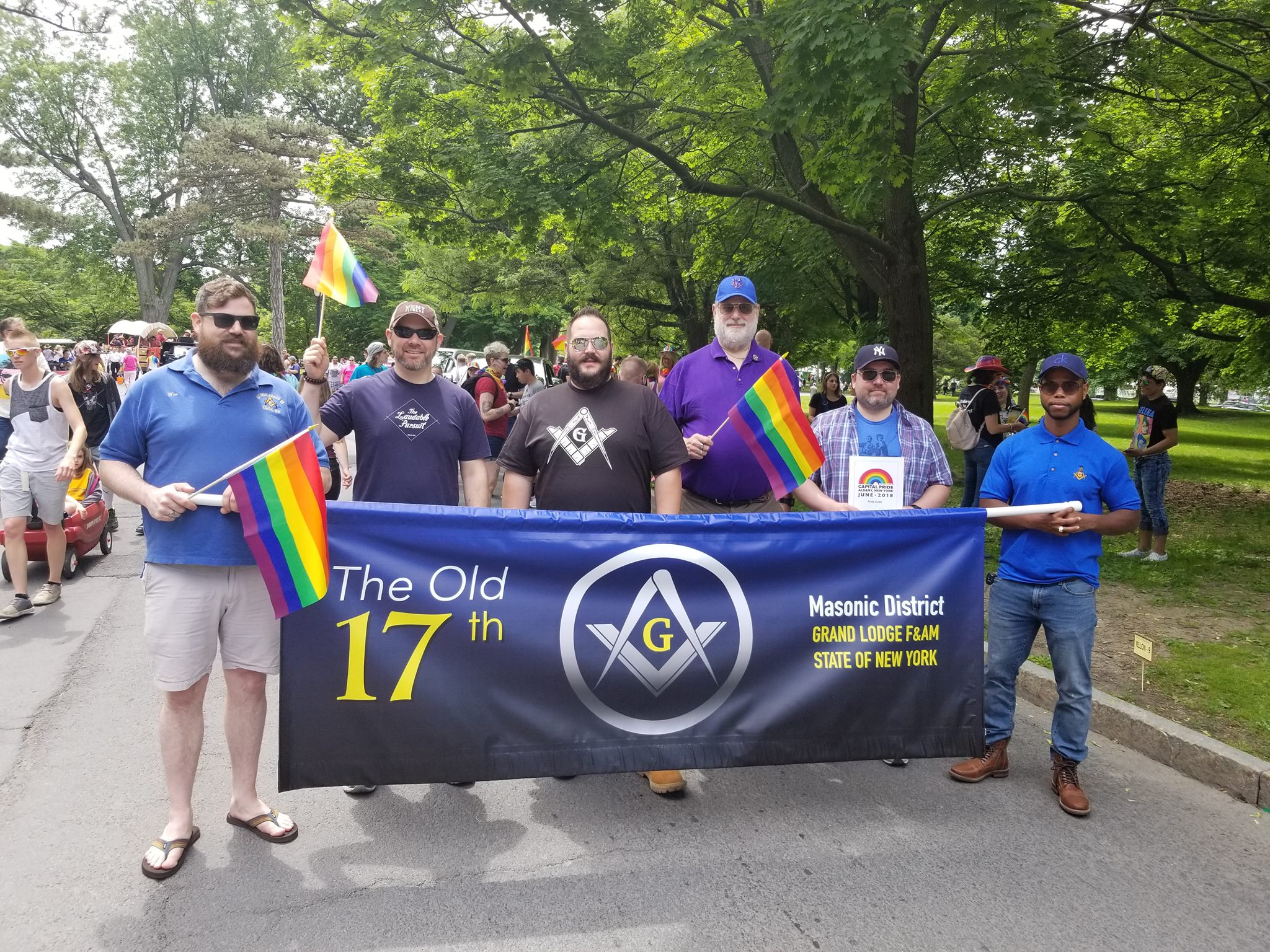 Old 17th Brothers marching in Albany PRIDE Parade